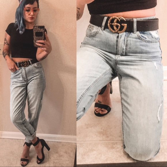 size 40 9b0ba a6da0 Vero Moda High Rise Ankle Grazer Mom Jeans